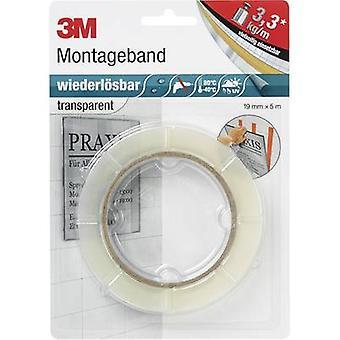 3M PX5011 7000073335 Dobbeltsidet tape Transparent (L x W) 5 m x 19 mm 5 m