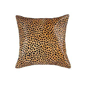 "18"" x 18"" x 5"" Sensational Cheetah Torino Kobe Cowhide - Pillow"
