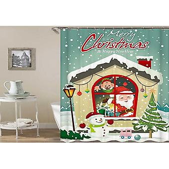 Fabric Shower Curtains Merry Christmas House