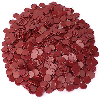 Massive Red Bingo Chips, 1000er-Pack