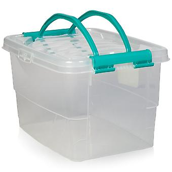 Hobby Life 13 Litre Handy Box With Clip On Lid And Carry Handles (021167)