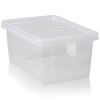 Wham Paquete de almacenamiento de cajas de cristal de 5 a 11 litros con tapas
