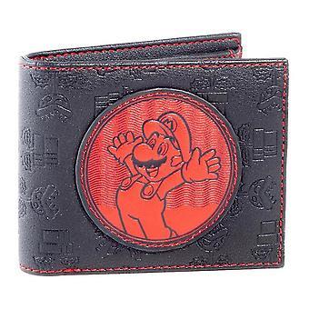 Nintendo Super Mario Bros. červený Mario oprava Bi-fold peněženka černá/červená