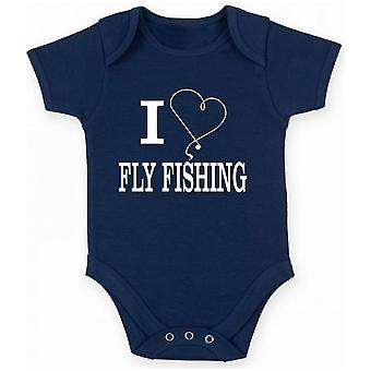 Body neonato blu navy gen0234 i heart fly fishing