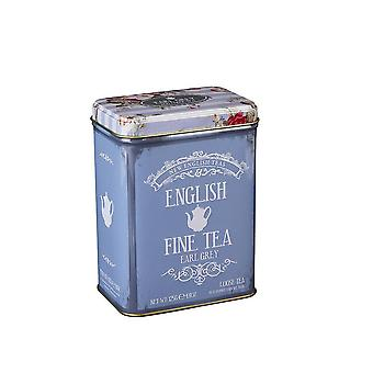 Vintage floral english earl grey tea tin 125g
