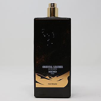 Oriental Leather by Memo Paris Eau De Parfum 2.53oz/75ml  New,as shown