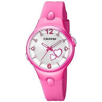 Titta på Calypso-K5746-3 - söta tid armband silikon rosa fall R sine Rosa flicka