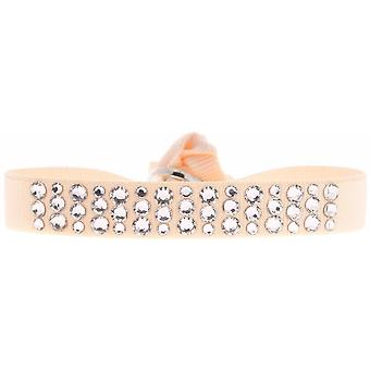Bracelet interchangeable A36902 - tissue Rose woman Swarovski crystals Bracelet