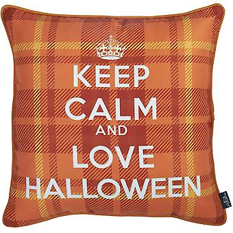 """18""""x 18"""" Love Halloween Printed Decorative Throw Pillow Cover"""