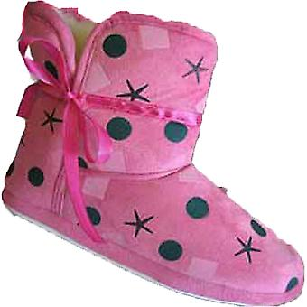 New Girls COOLERS Brand Warm Polka Dot Fluffy Slipper Boot K406