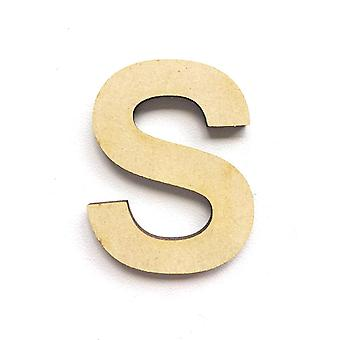 Wooden Large Capital Alphabet Letters - S