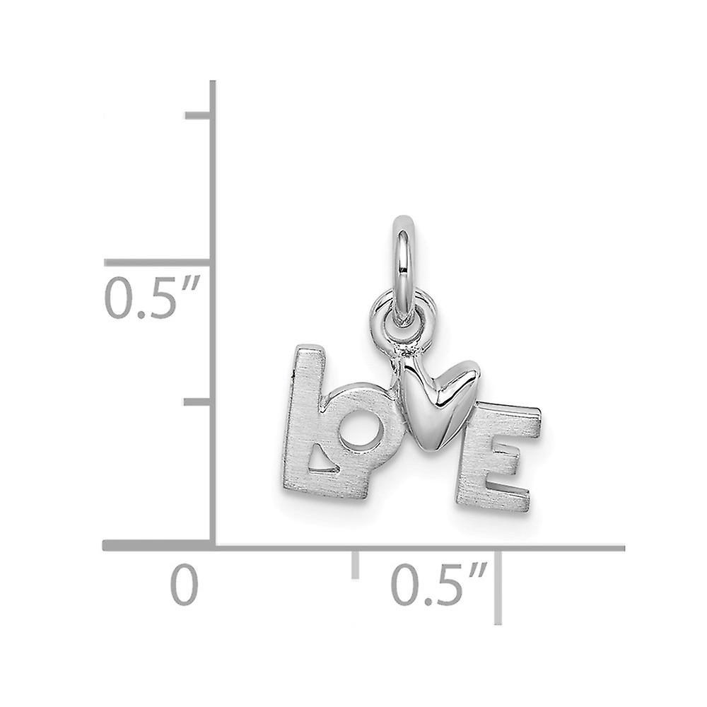 925 Sterling Silver Polished Love Pendant Necklace Jewelry Gifts for Women