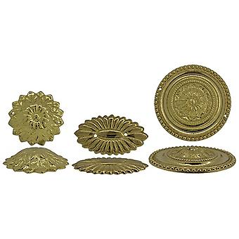 Clock decoration rosettes outer holes
