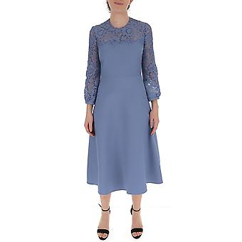 Valentino Tb3valz4360394 Women's Light Blue Wool Dress