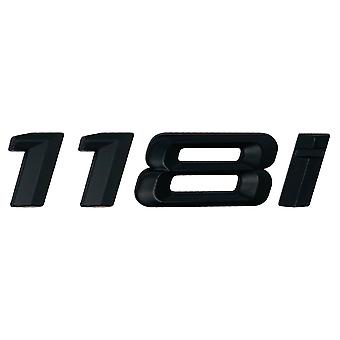 Matt Black BMW 118i Car Badge Emblem Model Numbers Letters For 1 Series E81 E82 E87 E88 F20 F21 F52 F40