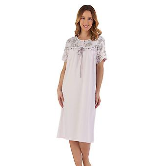 Slenderella ND55122 Women's Pink Floral Cotton Nightdress