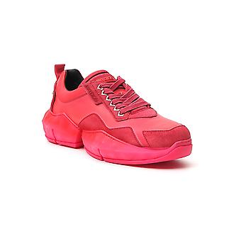 Jimmy Choo Diamondmiiuberry Mænd's Red Leather Sneakers