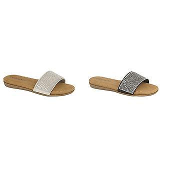 Cipriata Womens/damas diamante mula Slip on zapato