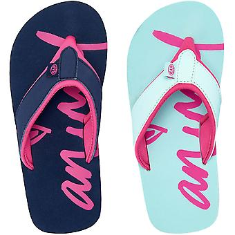 Animal Girls Swish Logo Summer Slip On Beach Holiday Flip Flops Sandals