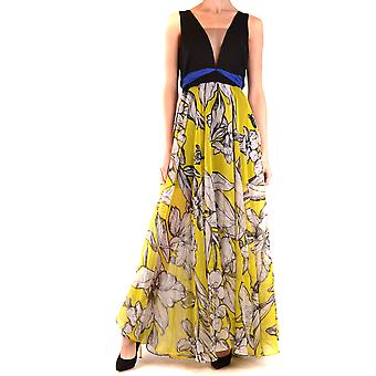 Hh Couture Ezbc432004 Women's Yellow Polyester Dress