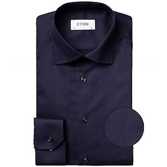 Eton Contemporary Fit Micro Vlecht Shirt