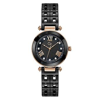 GC Y66002L2MF Women's Primechic Black Ceramic Wristwatch