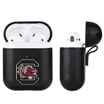 South Carolina Gamecocks NCAA Fan Brander Zwart Lederen AirPod Case
