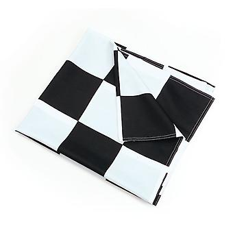 Chequered Flag Blk/Wh 3' x 5'