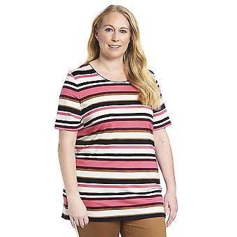 Rösch 1194559-11874 Women's Curve Multicoloured Striped Pyjama Top