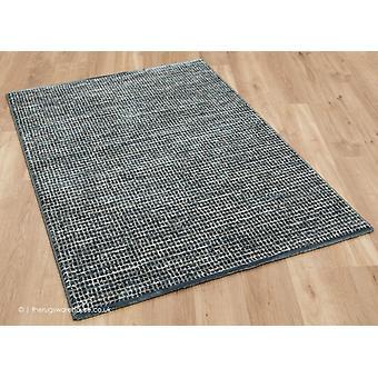 Estratos de malha tapete azul