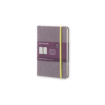 Moleskine limited edition notebook blend collectie 15 pocket - geregeerd - violet
