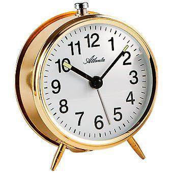 Or métal pour Atlanta 1051/9 réveil mécanique ronde mécaniquement