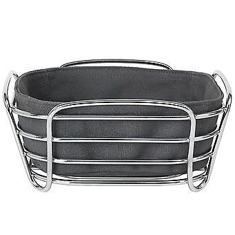 Blomus Pan cesta pequeña DELARA alambre de acero cromado algodón insertar color imán