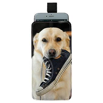 Dog Labrador Universal Mobile Bag