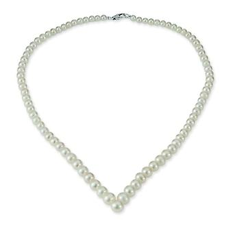 Women's necklace in gold 14 Adriana (585) White pearl-mother gold Sports 45 -0 cm M5-14WG