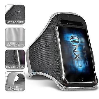 XXLarge Vit Excercise Utomhus Sport Armband Telefonhållare Case Kör Gym för HTC Wildfire E1 Lite
