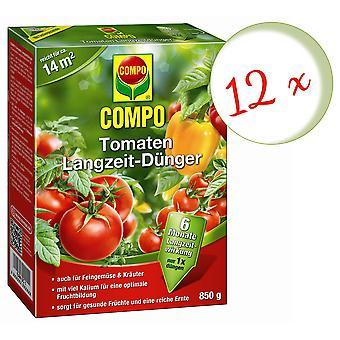 Sparset: 12 × طماطم COMPO طويلة الأجل الأسمدة، 850 غرام