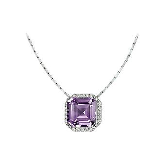 Jacques Lemans - Sterling Silver Necklace with Amethyst - SE-C104D