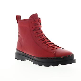 Camper Brutus  Mens Red Leather High Top Lace Up Casual Dress Boots