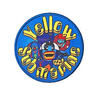 The Beatles Patch Yellow Submarine Baddies Circle Official embroidered Iron on