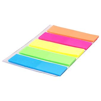 100 Colour Fluro Adhesive Sticky Repositionable Note Tab Marker Index Bookmarks