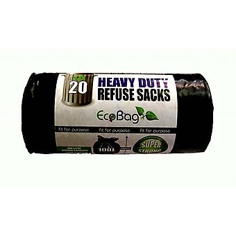 Ecobag Heavy Duty Plastic Bags (Pack Of 20)