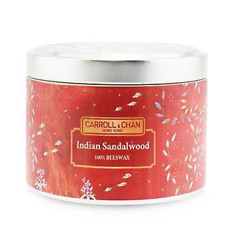 Carroll & Chan 100% Bijenwas tinnen kaars - Indisch sandelhout (8x6) cm