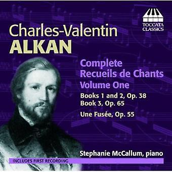 Charles-Valentin Alkan - Charles-Valentin Alkan: Complete Recueils De Chants, Vol. 1 [CD] USA import
