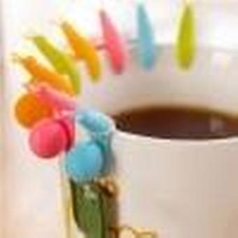 6pcs Cute Snail Shape Silicone Tea Bag Clip for Cup Mug Used During Party As Decorative Tool.