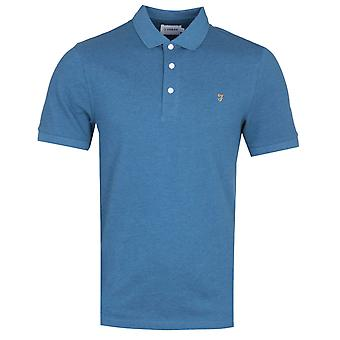 Farah Blanes Basic Berlin Blau Marl Pique Polo Shirt