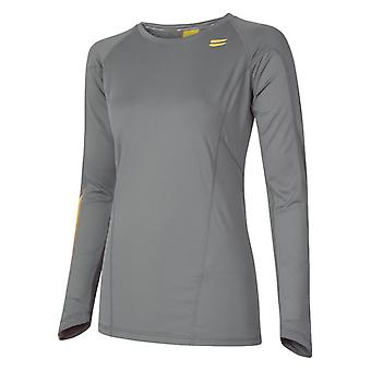 TribeSports Kvinnor & s LS Run Top Charcoal X Liten