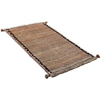 Handgebonden Perzisch tapijt Gabbeh Shiraz Wol Beige/Bruin 76x138cm