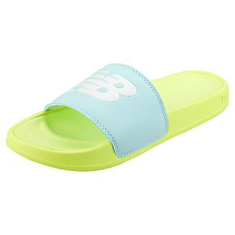 New Balance Swf200ls Womens Slide Sandals in Yellow Blue