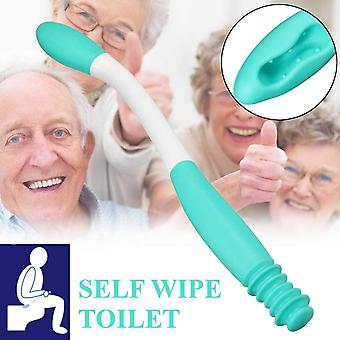 Long Handle Reach Comfort Bottom Wiper Self Wipe Assist Holder Toilet Paper Tissue Grip Self Wipe Aid Motion Assistance